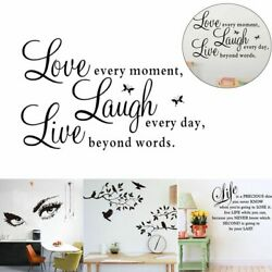 DIY Art Quote Wall Decal Stickers Vinyl Bedroom Removable Mural Home Room Decor