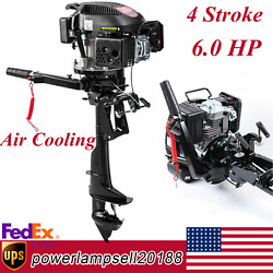 Hangkai Outboard Engine Boat Motor 6 Hp 4-stroke 2500rpm Air Cooling System Us