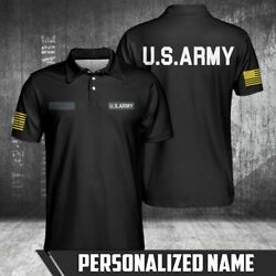U.s Army Basic Style Personalized Polo Shirt Best Gift For Retire Dad