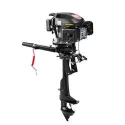 6hp 4 Stroke Outboard Motor Engine For Fishing Inflatable Boat Air Cool System