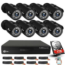 Xvim 4/8ch Outdoor Cctv Security Camera System Wired Hdmi Dvr Kit Night Vision