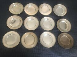 Gorham Sterling Black Starr And Frost 43136 12 Bread And Butter Plates 6 1/4