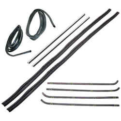 Sweep Belt And Glass Run Window Channel And Door Seal 10 Pcs Kit 64-66 Chevy Gmc