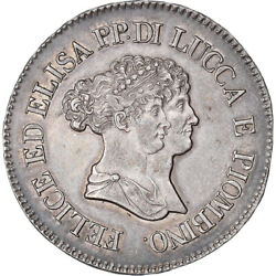 [908034] Coin Italian States Lucca Felix And Elisa 5 Franchi 1805 Firenze