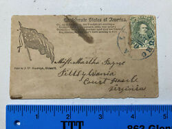 Confederate Patriotic Cover Stamp Tied By Blue Lynchburg, Va. P.o. Stamp