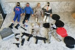 Vintage 1992 12 Inch Gi Joe Action Figures Army Doll X 4 Lot Fatigues Weapons +