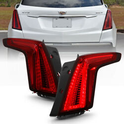 [2020 Facelift Style] For 17-21 Cadillac Xt5 Led Tail Brake Light Pair Dark Red
