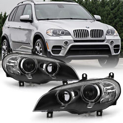 [afs+xenon] Black Projector Headlight Led Halo Front Lamp For 11-13 Bmw E70 X5