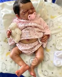Reborn Baby Doll Girl Closed Eyes 19 Inches - Happy By Adrie Stoete