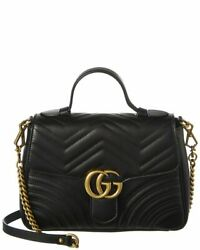 Gucci Gg Marmont Small Matelasse Leather Top Handle Satchel Women#x27;s $2349.99