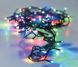 48 Multi Coloured Led Christmas Fairy String Lights Indoor Outdoor Battery