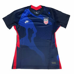 Nike Women's Slim Fit Usa Soccer Jersey Away 2021 Blue Size M - Uswnt Authentic