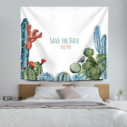 Cactus Wall Tapestry Desert Succulent Plant Tapestry Throw Bedspread for Home