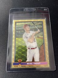 Mike Trout 2021 Bowman 1991 Variation Superfractor 1/1