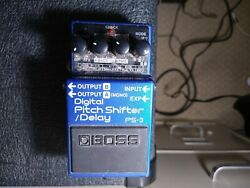 Boss Ps-3 Digital Pitch Shifter Delay Used Effects Pedal - Boss 6c452