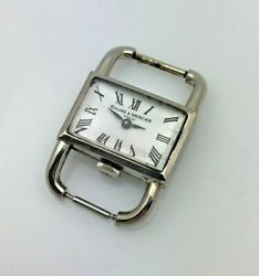 Mauboussin By Baume And Mercier 1950s - 1960s Drivers Watch Solid 18k White Gold