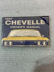 1967 Chevelle Ss Gm Factory Original Owners Manual Third Edition 3901023