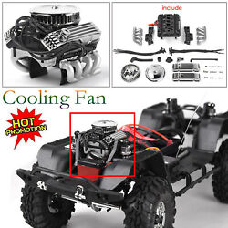 For 1/10 Rc Crawle T4 Scx10 Rc4wd Simulate Engine Motor Cooling Fan F82 Grc V8