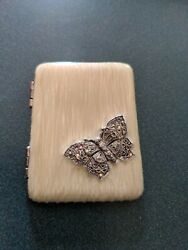 Vintage - Monet - Compact 2 Mirrors With Butterfly On Front Cover