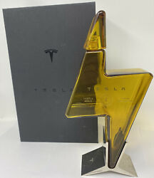 🌟empty Tesla Tequila Bottle + Stand + Box Limited In Hand Fast Ship🌟