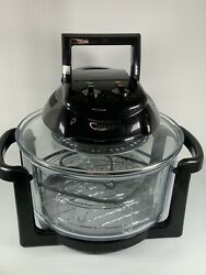 Deni Model 10400 Quick-n-easy 10.4 Quart Convection Oven Glass And Black
