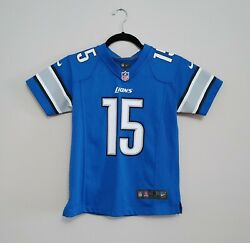 Detroit Lions Golden Tate Iii Nike Nfl Jersey Youth Size Small Blue V Neck