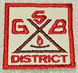 South Georgian Bay District Cut Edge Square Boy Scout Badge Canadian Ons26a