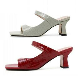 Trendy Women Casual Slingbacks Hollow Out Slipper Mules Open Toe Comfy Sandals L