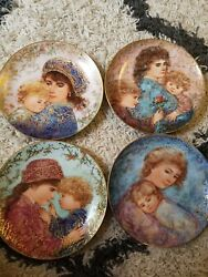 Knowles Edna Hibel Mother's Day Collector's Plates Set Of 4 1984-1990 Limited