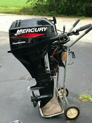 Mercury Four Stroke Outboard Motor 15hp Used Condition In Good Shape.andnbsp