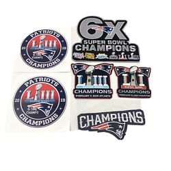 Patriots Superbowl Champions Patches Stickers 2019 Nfl Football 6x Champs
