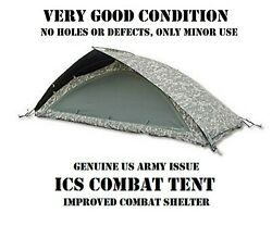 Us Army Acu Ucp Military 1-man Ics Improved Combat Shelter Tent System Tcop Vgc