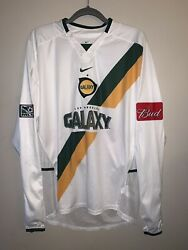 Rare Nike La Los Angeles Galaxy 2003/2004 Away Jersey Long Sleeve Player Issue
