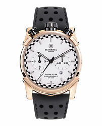 Mens Ion Plated Rose Gold Ct Scuderia Watches Check Flag Cweh00219