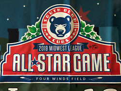 Wander Franco Autographed 2019 Game Used Midwest League All Star Game Banner Roy
