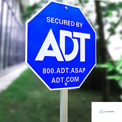 Sweetfull 28 Adt Signadt Security Signs With 6 Double-sided Stickers Metal Yar