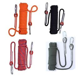10m/20m/50m Safety Outdoor Climbing Rope Rock Rappelling Cord Escape Rescue Gear