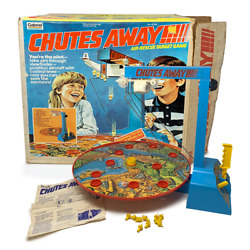 Chutes Away Vintage Gabriel Games 1977 Complete W/ Original Box And Instructions