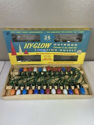 Vintage Hy-glow Outdoor Christmas And All Year Lighting Outfit No. 3925 1958