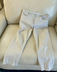 Les Olivades Collection French Provence Stretchy Cotton Polka Dot Pants S/m