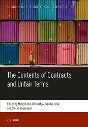 Contents Of Contracts And Unfair Terms Hardcover By Chen-wishart Mindy Edt...