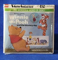 Sealed K37 Disney Winnie The Pooh And The Blustery Day View-master 3 Reels Packet