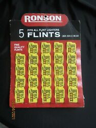 Vintage Ronson Flints Store Counter Display- Red Cardboard- 24 Cards