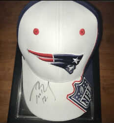 Tom Brady Signed Patriots Hat In Person Autograph 2010 Ne @ Cle Mvp Year Gem