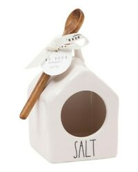 Rae Dunn By Magenta Salt Pig Baby Birdhouse With Wooden Spoon 2020 Release