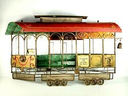 Vtg Curtis Jere San Francisco Trolley Cable Car Metal Wall Art Sculpture And03967 Mcm