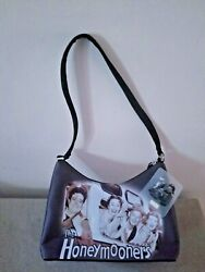 Nwt The Honeymooners B/w Picture On Black Shoulder Bag Purse From 2004