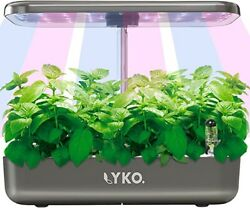 Lyko 12pods Indoor Herb Garden Kit, Hydroponics Growing System With Led