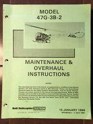 Bell Helicopter 47g-3b-2 Service And Overhaul Manual.