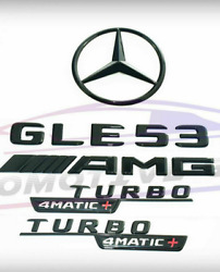 For Mercedes Emblem Star Boot Trunk Gle53 Amg Turbo 4matic+ Glossy Black Coupe